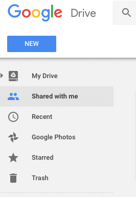 Google Drive Sidebar