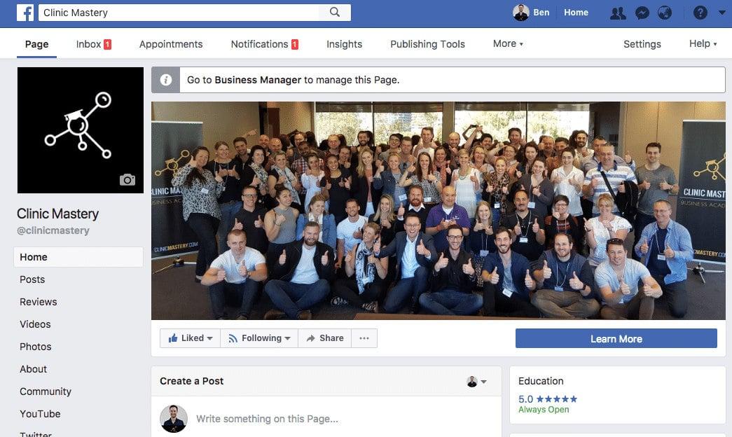 Clinic Mastery Facebook